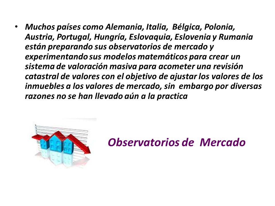 Observatorios de Mercado Muchos países como Alemania, Italia, Bélgica, Polonia, Austria, Portugal, Hungría, Eslovaquia, Eslovenia y Rumania están prep