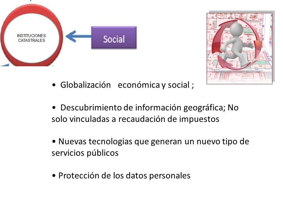 Globalización económica y social ; Descubrimiento de información geográfica; No solo vinculadas a recaudación de impuestos Nuevas tecnologias que gene