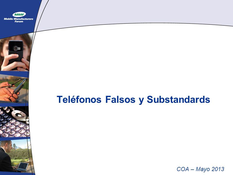Teléfonos Falsos y Substandards COA – Mayo 2013