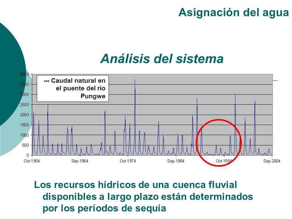Los recursos hídricos de una cuenca fluvial disponibles a largo plazo están determinados por los períodos de sequía Asignación del agua Análisis del s