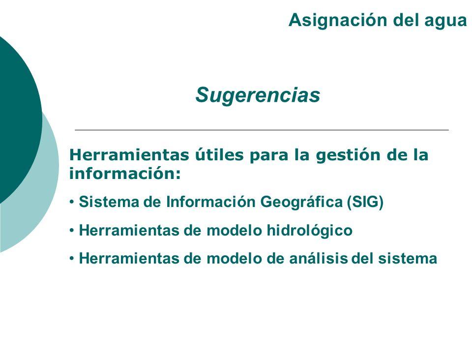 Herramientas útiles para la gestión de la información: Sistema de Información Geográfica (SIG) Herramientas de modelo hidrológico Herramientas de mode