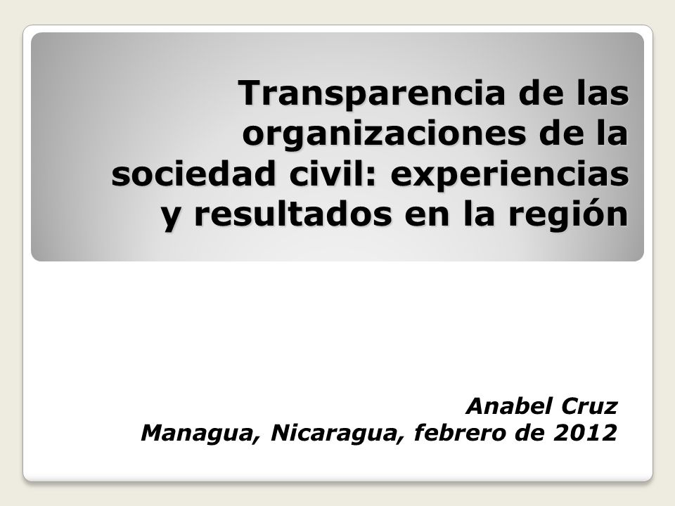 Anabel Cruz Managua, Nicaragua, febrero de 2012