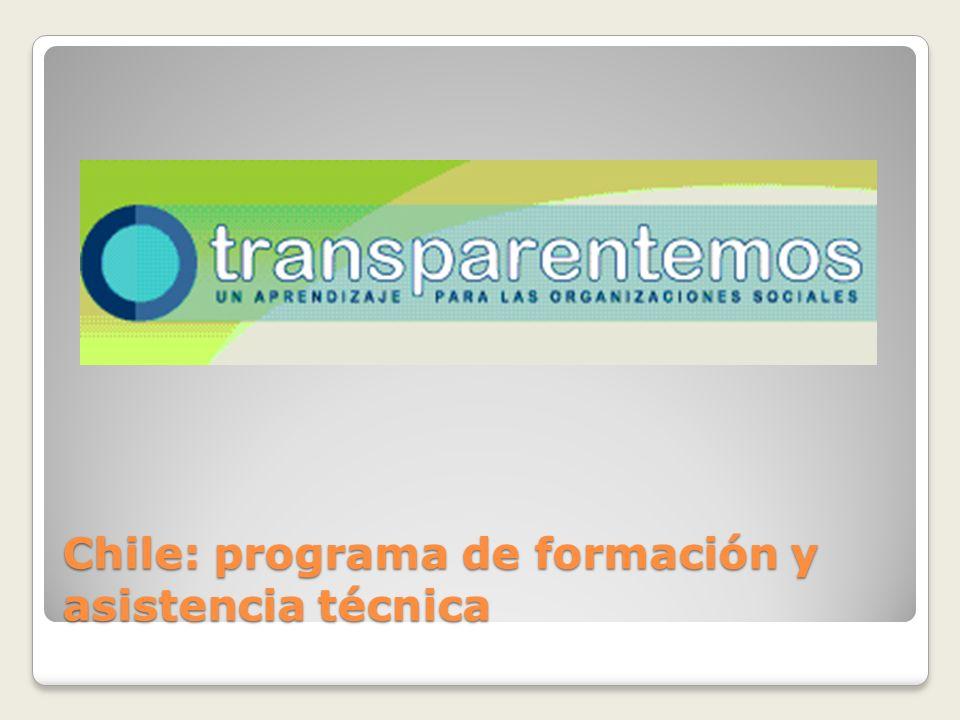 Chile: programa de formación y asistencia técnica