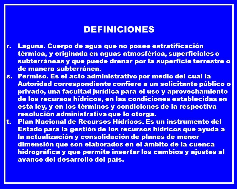 USO Y PROTECCIÓN DE LOS RECURSOS HÍDRICOS.DE LOS PERMISOS DE VERTIDO DE EFLUENTES.
