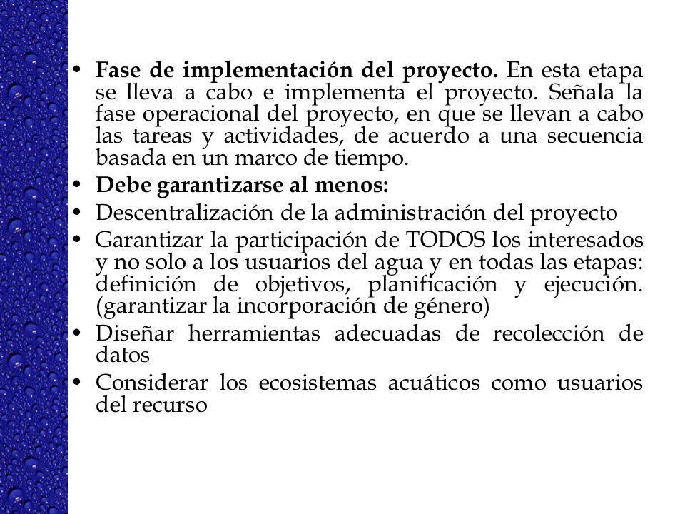 4 Objetivos fundamentales de la GIRH según la Agenda 21.