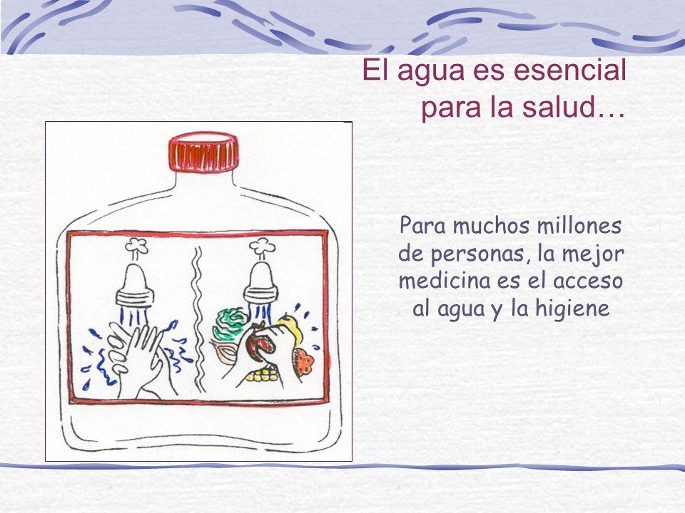 El agua es esencial para la salud… Para muchos millones de personas, la mejor medicina es el acceso al agua y la higiene