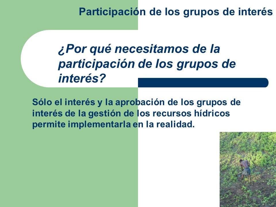 ¿Dónde y cómo deben involucrarse los grupos de interés.
