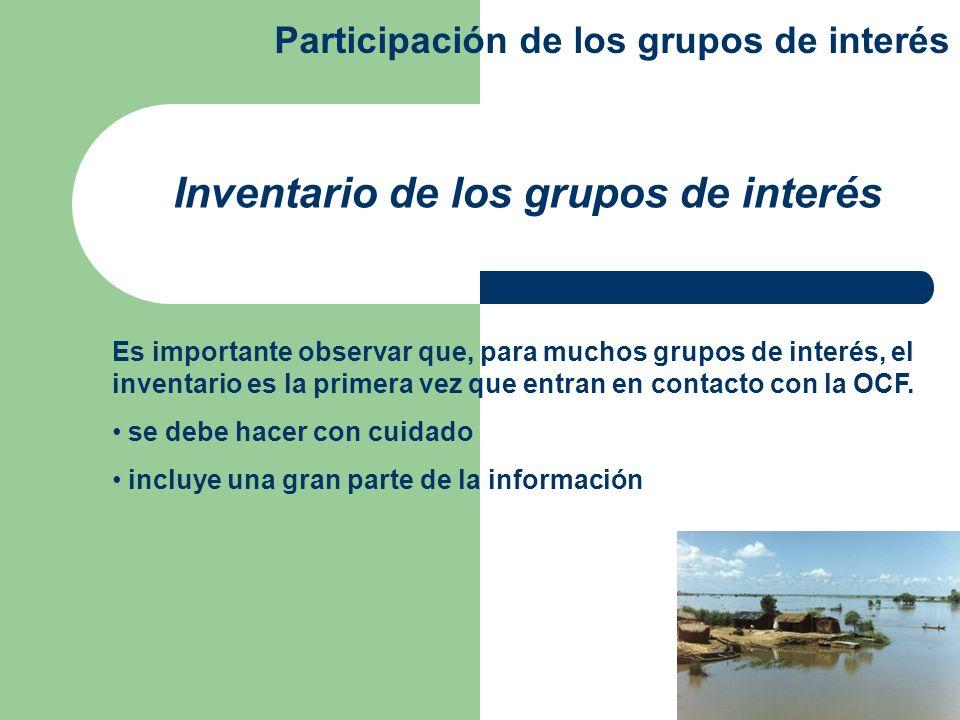 La participación de los grupos de interés es una función muy difícil de implementar requiere de numerosos recursos y capacidades es un proceso continuo requiere de medidas en diferentes niveles de la sociedad Conclusiones Participación de los grupos de interés