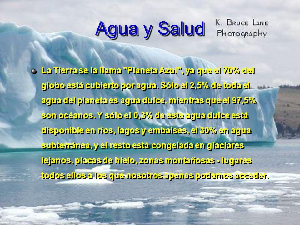 El Agua Un elemento esencial para la vida Debemos insistir en la relación entre el agua y la salud.