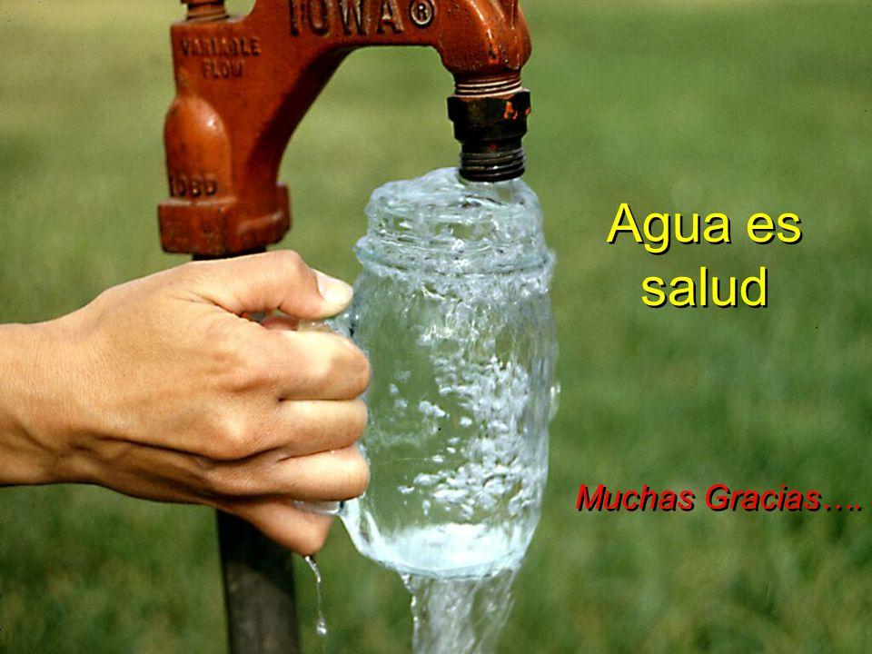 Agua es salud Muchas Gracias….
