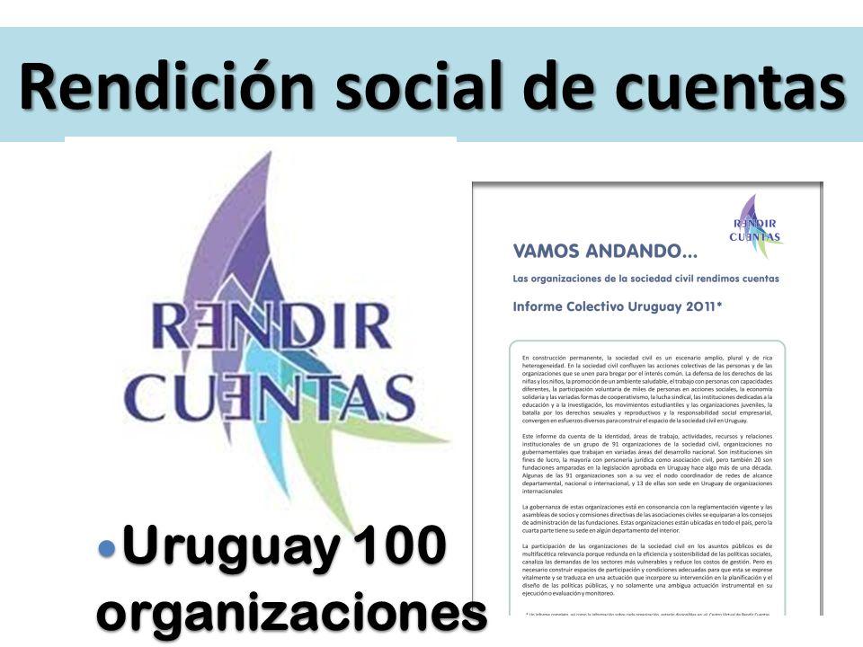 Rendición social de cuentas Uruguay 100 Uruguay 100organizaciones