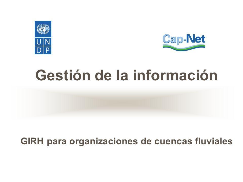Gestión de la información GIRH para organizaciones de cuencas fluviales