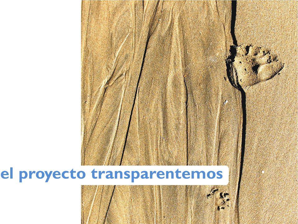 el proyecto transparentemos