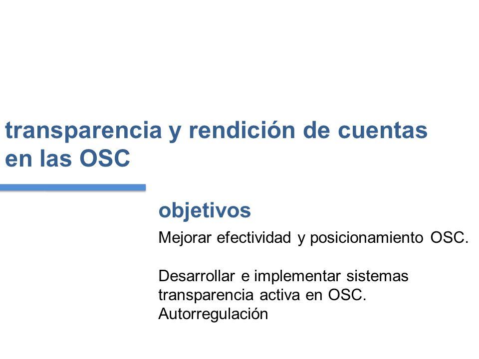 transparencia y rendición de cuentas en las OSC Mejorar efectividad y posicionamiento OSC.