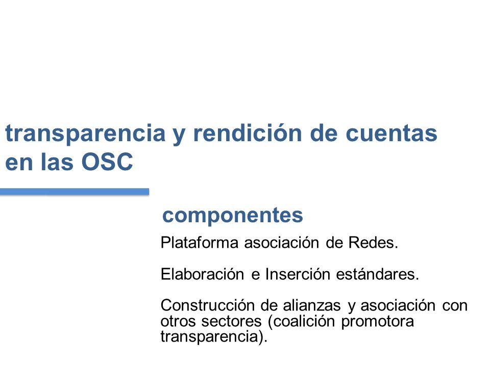 transparencia y rendición de cuentas en las OSC Plataforma asociación de Redes.