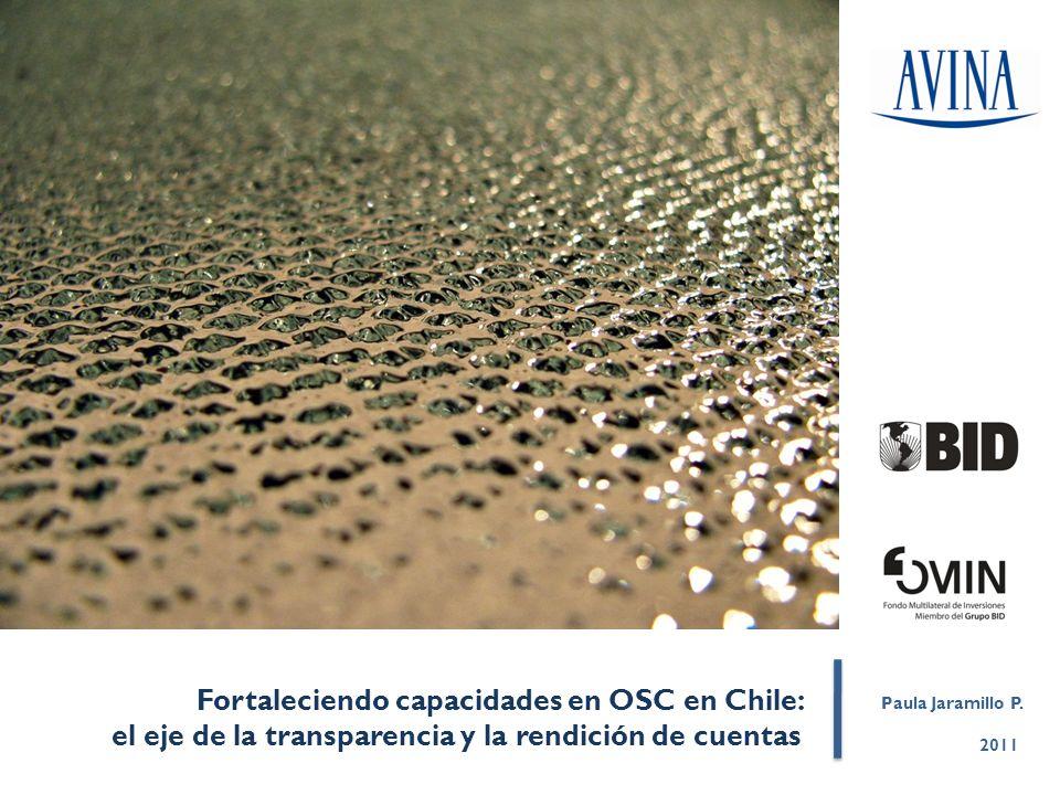 Fortaleciendo capacidades en OSC en Chile: el eje de la transparencia y la rendición de cuentas 2011 Paula Jaramillo P.