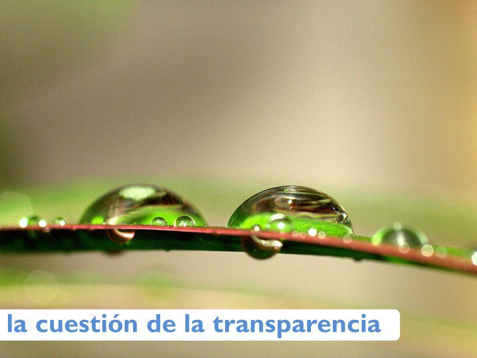 la cuestión de la transparencia