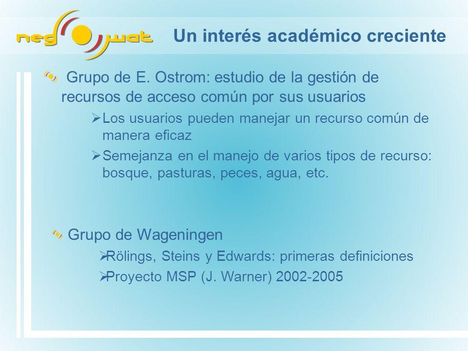 Un interés académico creciente Grupo de E.