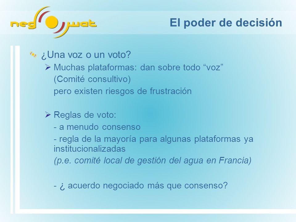 El poder de decisión ¿Una voz o un voto.