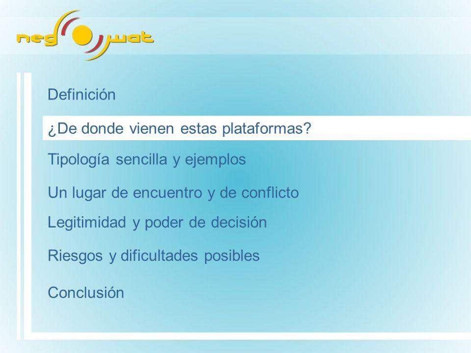Definición ¿De donde vienen estas plataformas.