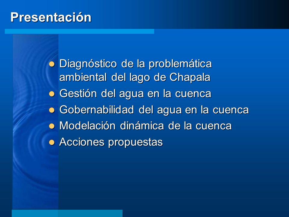 Presentación Diagnóstico de la problemática ambiental del lago de Chapala Diagnóstico de la problemática ambiental del lago de Chapala Gestión del agu