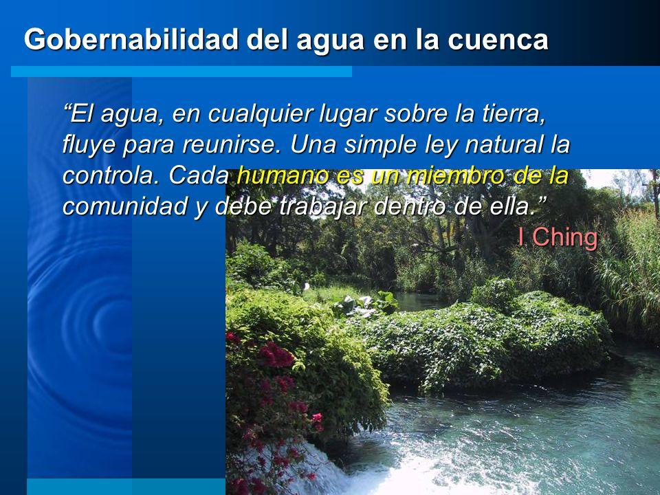 El agua, en cualquier lugar sobre la tierra, fluye para reunirse. Una simple ley natural la controla. Cada humano es un miembro de la comunidad y debe