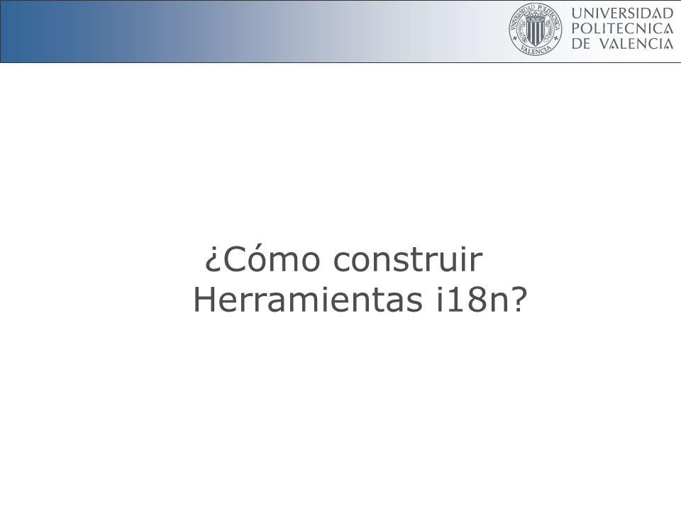 ¿Cómo construir Herramientas i18n?