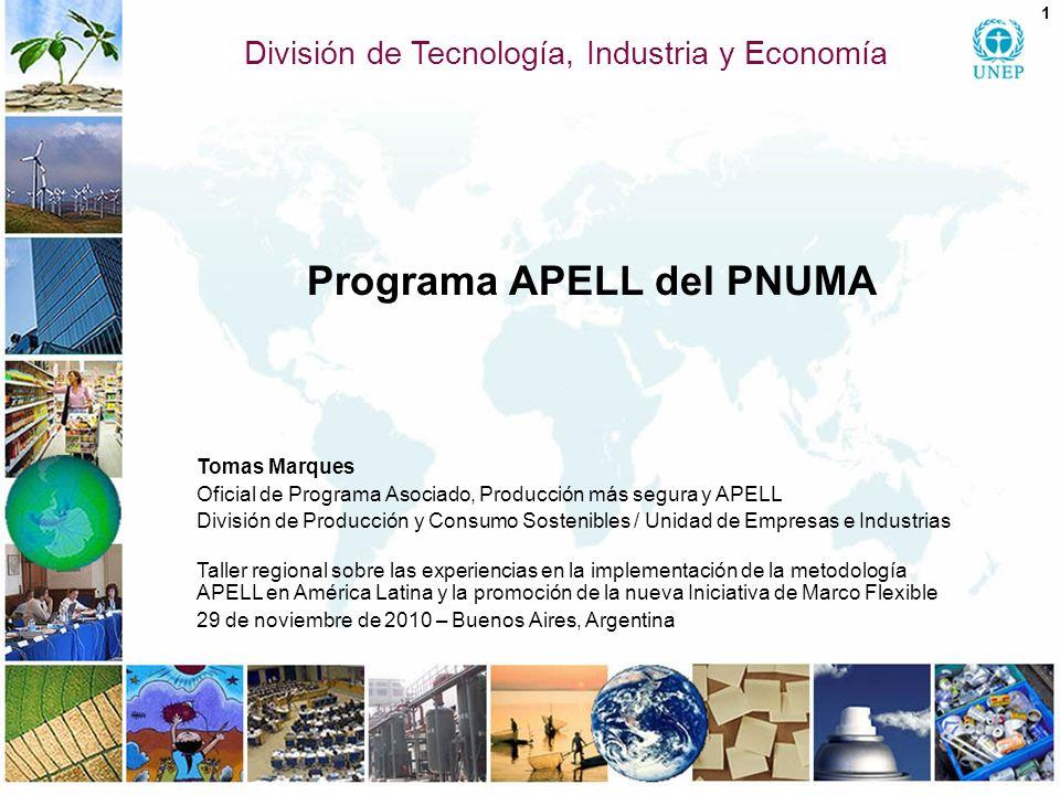 Contenido 1.Programa APELL del PNUMA 2. Proceso APELL: metas y objetivos 3.