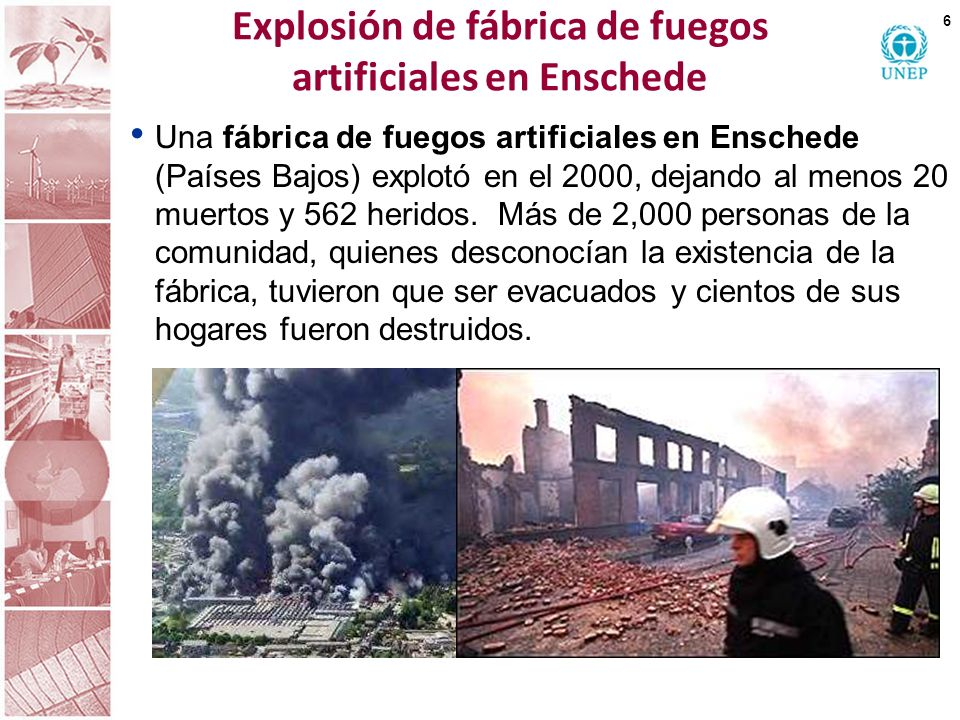 Explosión en fábrica de fertilizantes: el accidente de Toulouse 7 Septiembre de 2001 31 personas murieron >3,000 personas heridas