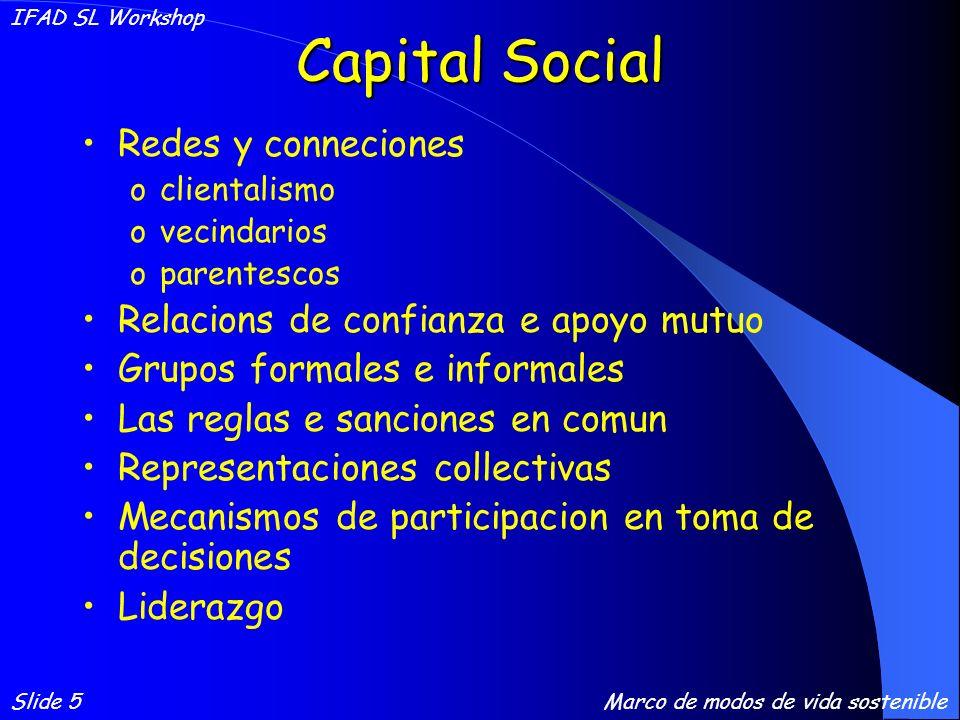 Capital Fisico Infraestructura transporte – caminos, vehiculos, etc.