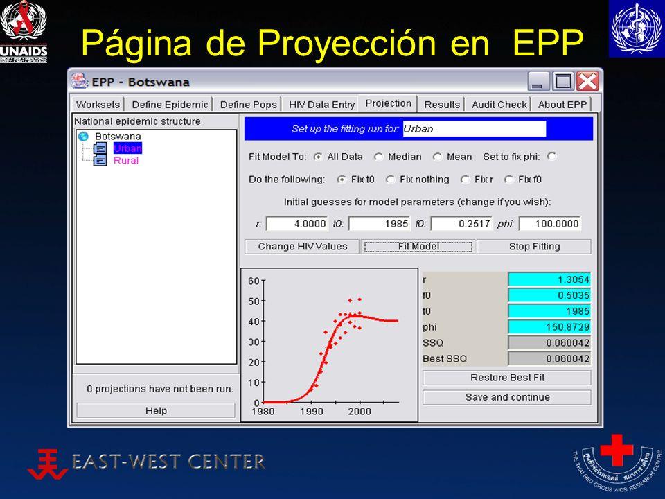 Página de Proyección en EPP