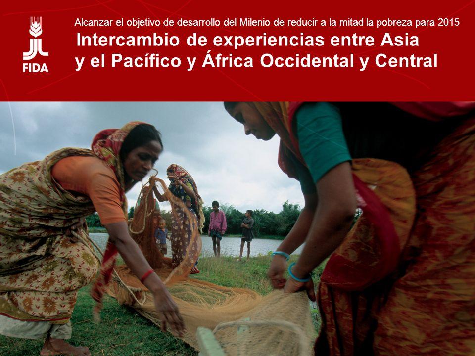 Intercambio de experiencias entre Asia y el Pacífico y África Occidental y Central Alcanzar el objetivo de desarrollo del Milenio de reducir a la mitad la pobreza para 2015 Intercambio de experiencias entre Asia y el Pacífico y África Occidental y Central