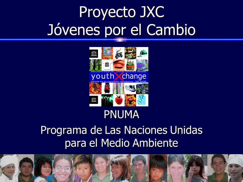 Proyecto JXC Jóvenes por el Cambio PNUMA Programa de Las Naciones Unidas para el Medio Ambiente