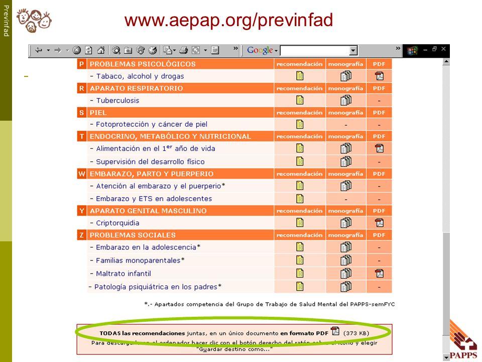 Previnfad www.aepap.org/previnfad