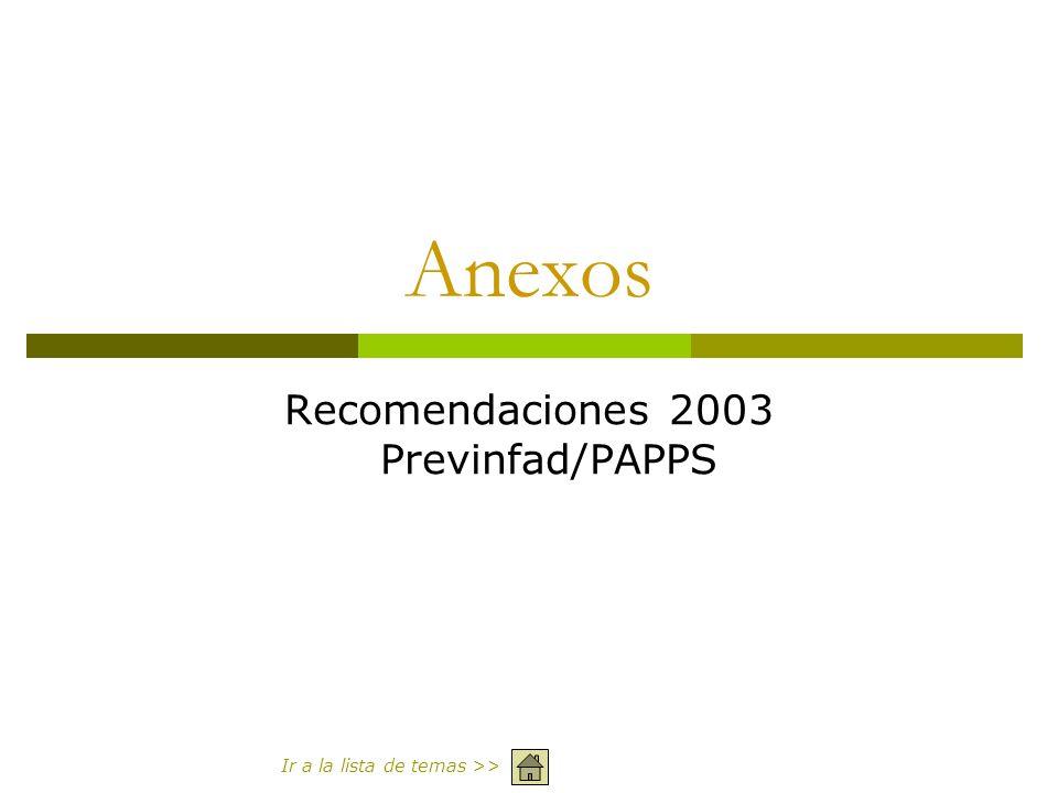 Anexos Recomendaciones 2003 Previnfad/PAPPS Ir a la lista de temas >>