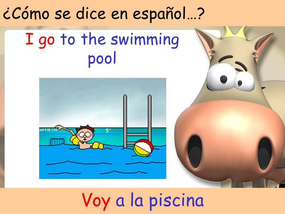 ¿Cómo se dice en español…? I watch television Veo la television