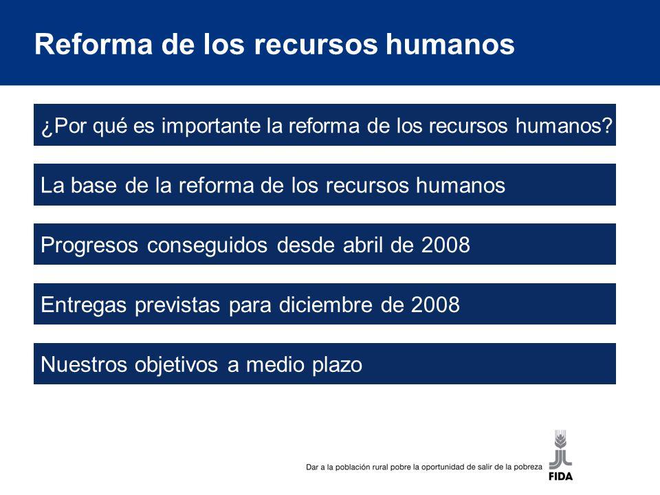 ¿Por qué es importante la reforma de los recursos humanos?