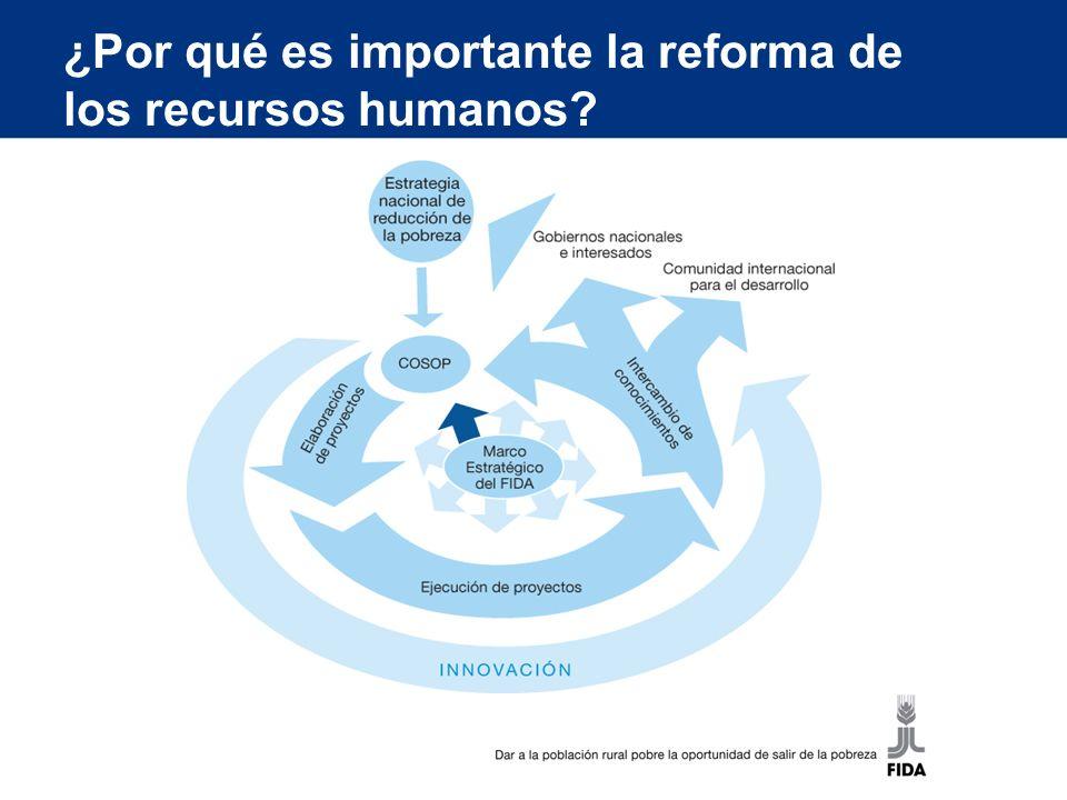 ¿Por qué es importante la reforma de los recursos humanos