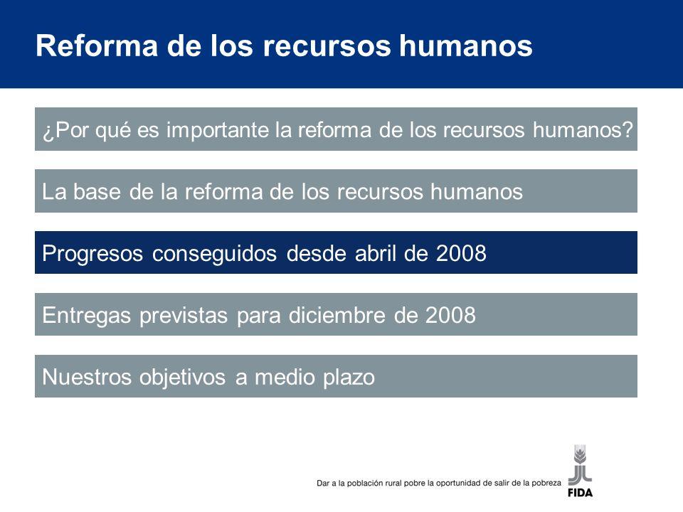 Reforma de los recursos humanos ¿Por qué es importante la reforma de los recursos humanos.
