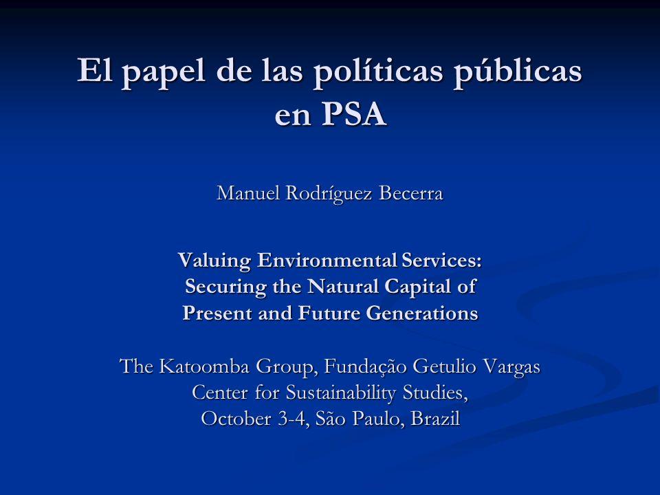Política pública: una combinación de instrumentos y actividades (aplicados en diversas dosis) Regulación directa Regulación directa Administrativos Administrativos Económicos Económicos Educación, investigación e información Educación, investigación e información