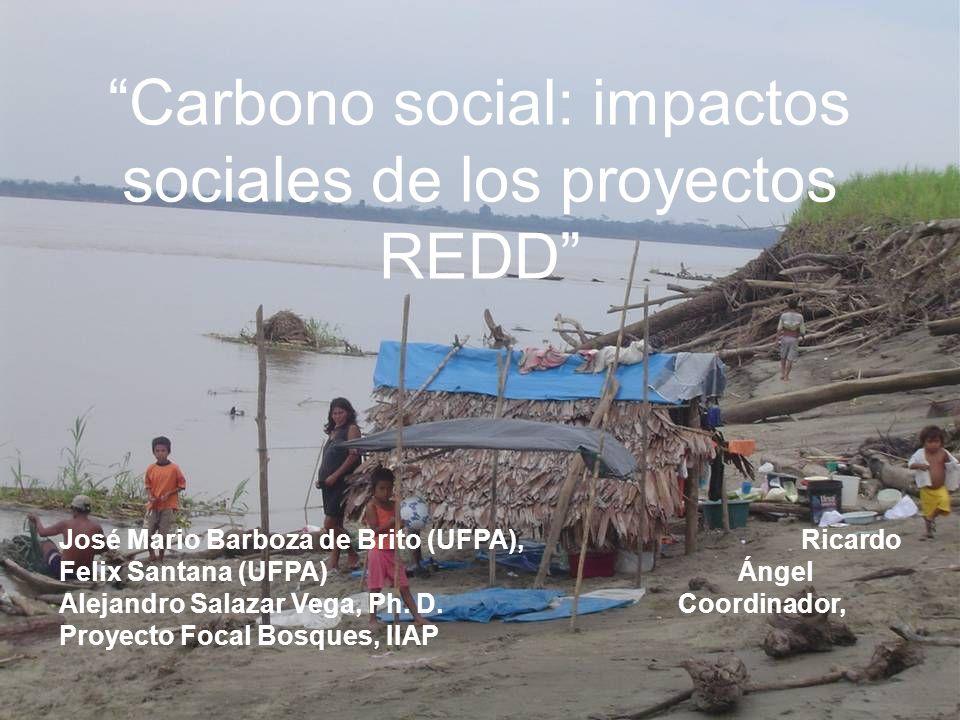 Carbono social: impactos sociales de los proyectos REDD José Mario Barboza de Brito (UFPA), Ricardo Felix Santana (UFPA) Ángel Alejandro Salazar Vega, Ph.