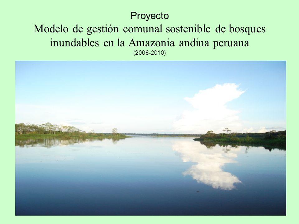 1 Proyecto Modelo de gestión comunal sostenible de bosques inundables en la Amazonia andina peruana (2006-2010) (BOSQUES INUNDABLES)