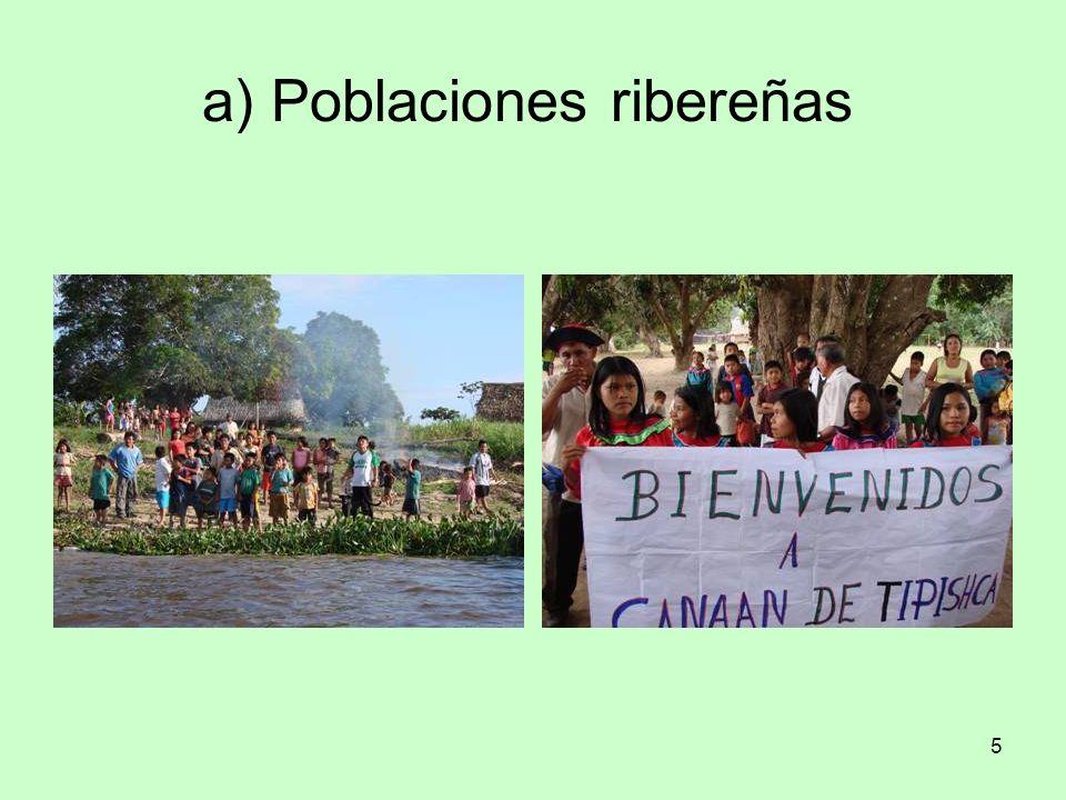 5 a) Poblaciones ribereñas