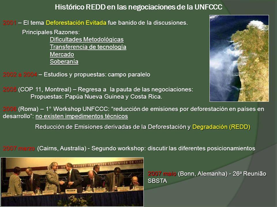 Histórico REDD en las negociaciones de la UNFCCC 2005 (COP 11, Montreal) – Regresa a la pauta de las negociaciones: Propuestas: Papúa Nueva Guinea y C