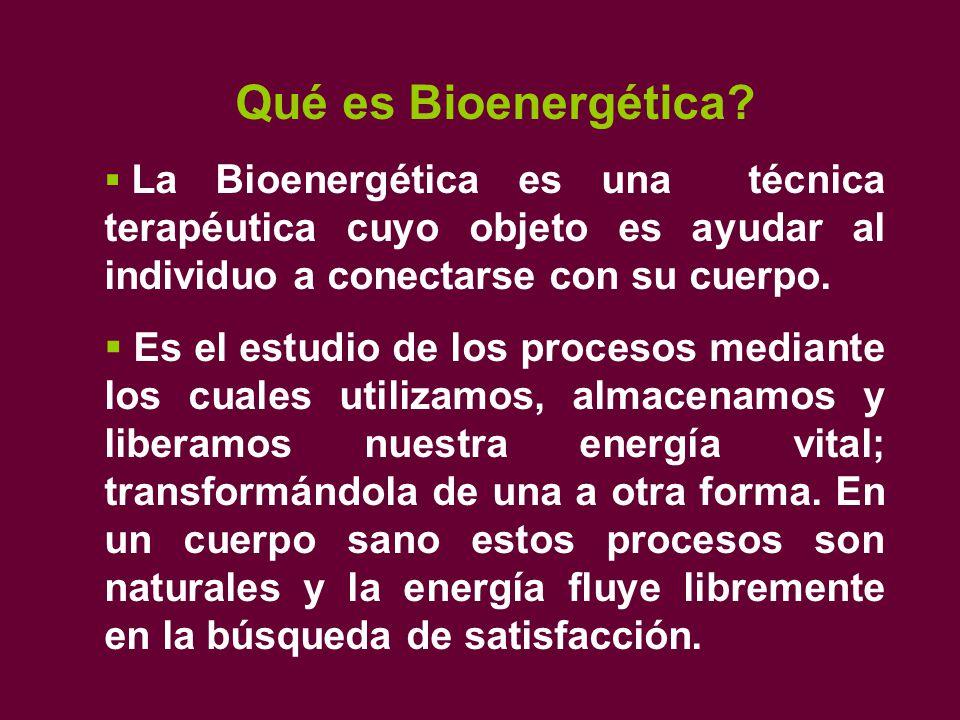Qué es Bioenergética.