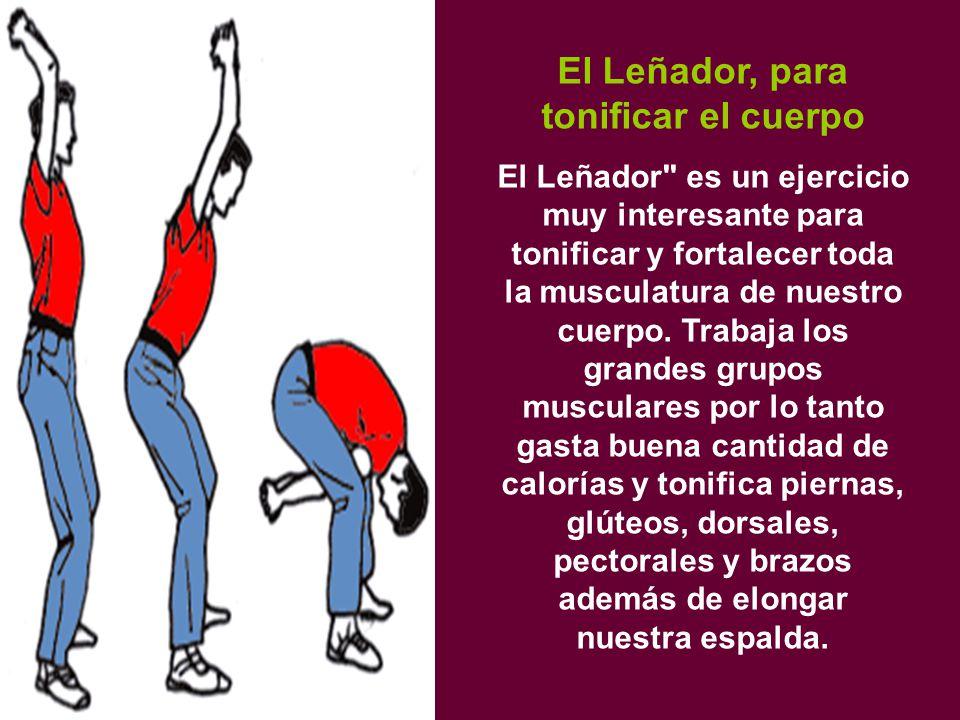 El Leñador, para tonificar el cuerpo El Leñador es un ejercicio muy interesante para tonificar y fortalecer toda la musculatura de nuestro cuerpo.