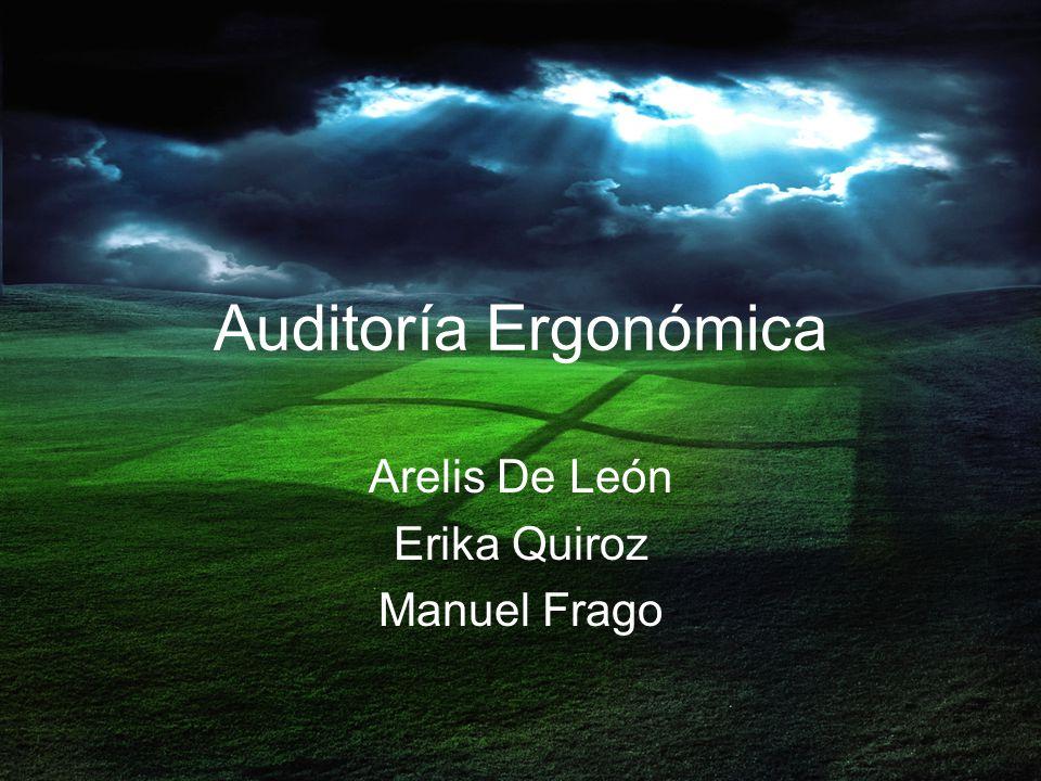 Auditoría Ergonómica Arelis De León Erika Quiroz Manuel Frago
