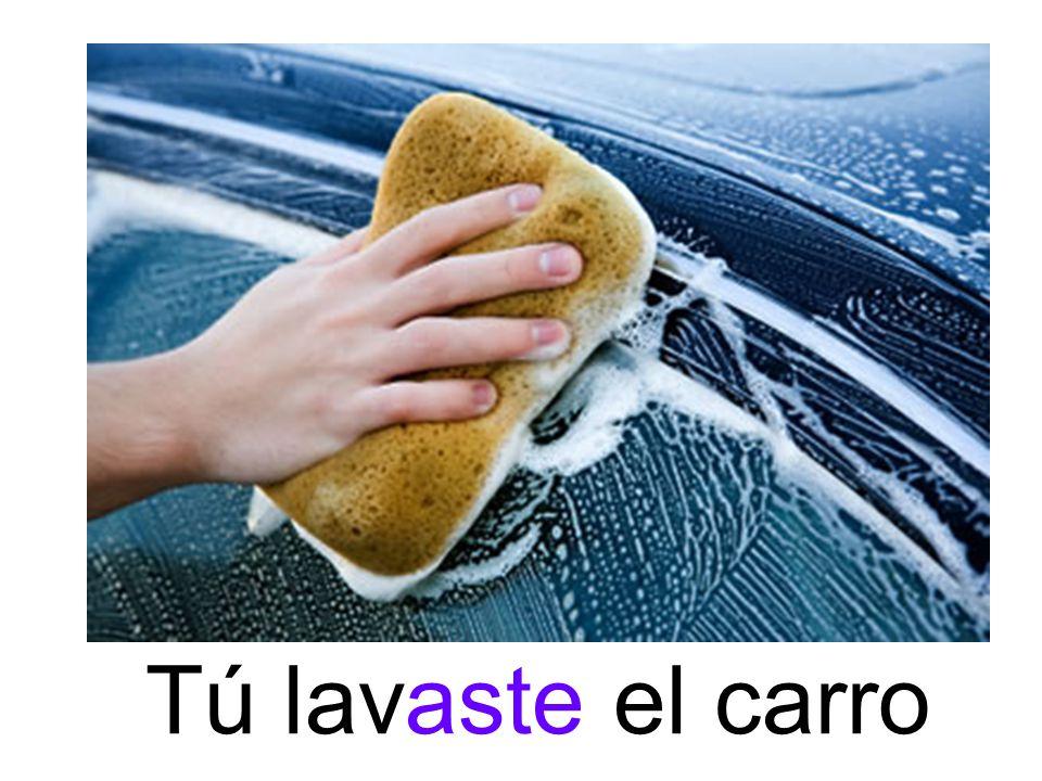 Tú lavaste el carro