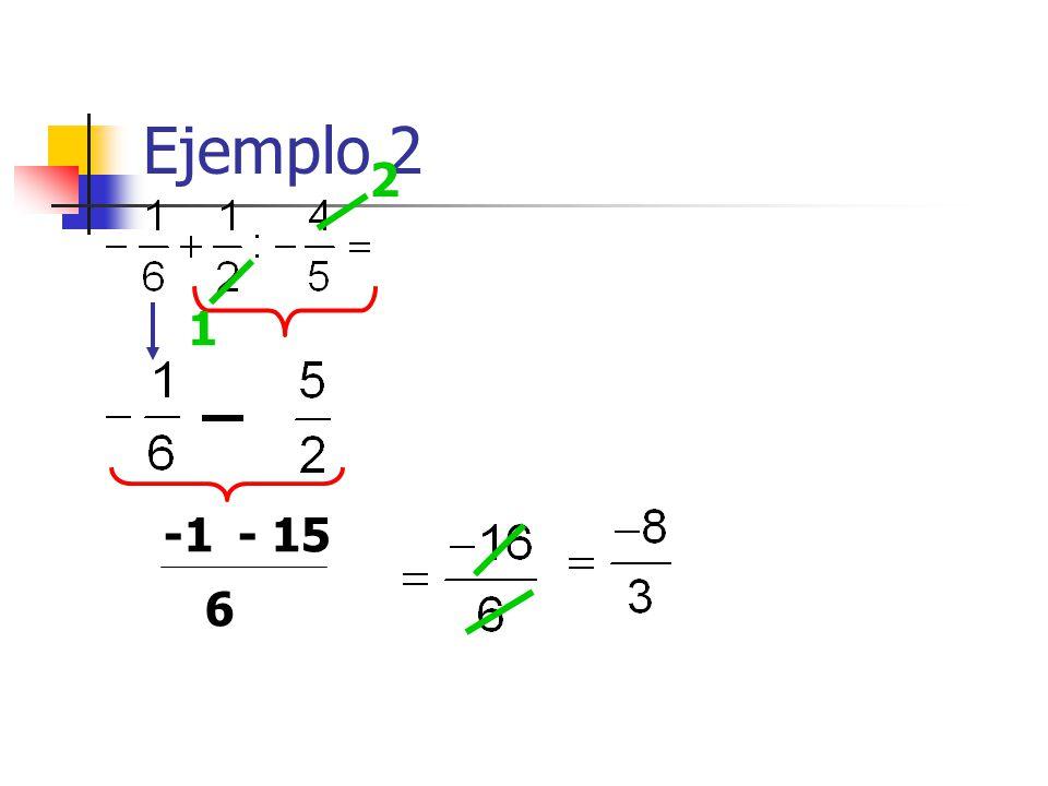 Ejemplo 2 1 2 - 15 6