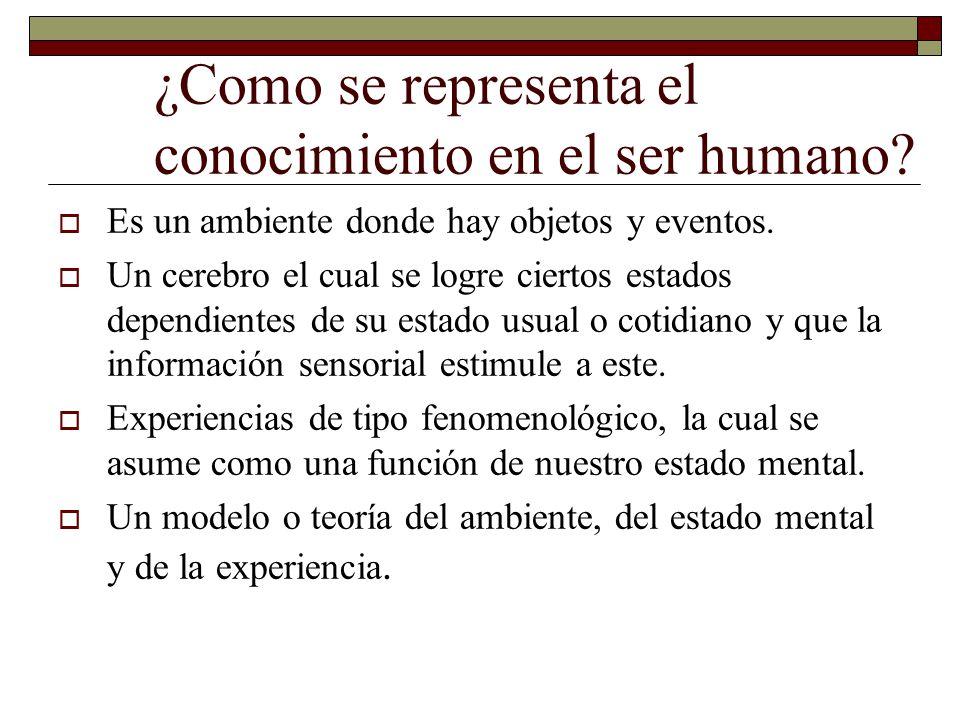 ¿Como se representa el conocimiento en el ser humano.